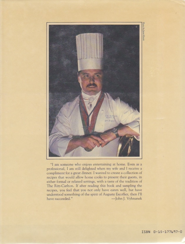 escoffier essay One such founder of the current practice of luxury dining is the subject of this essay, the chef and father of modern french haute cuisine auguste escoffier so it must be conceded at the outset that, from a variety of perspectives, escoffier's contribution to ethics may well be negative.