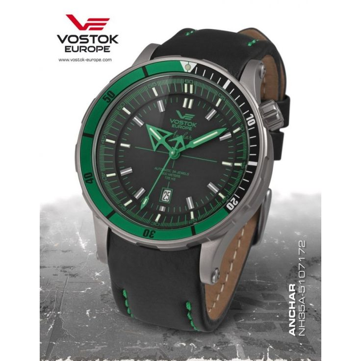 Vostok-Europe Anchar Submarine Titanium Green - Vostok Europe - karóra, webáruház és üzlet, Vostok, Bering, Ice Watch, Morgan, Mark Maddox, Zeno watch, Lorus