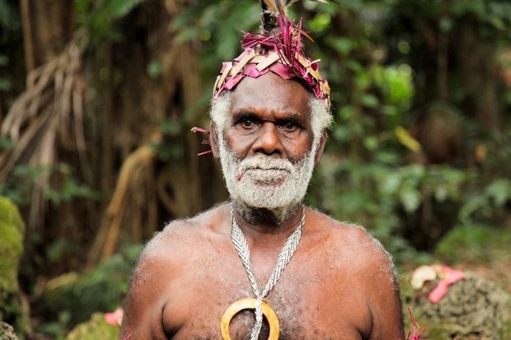 Local tribesman in Wala, New Caledonia.