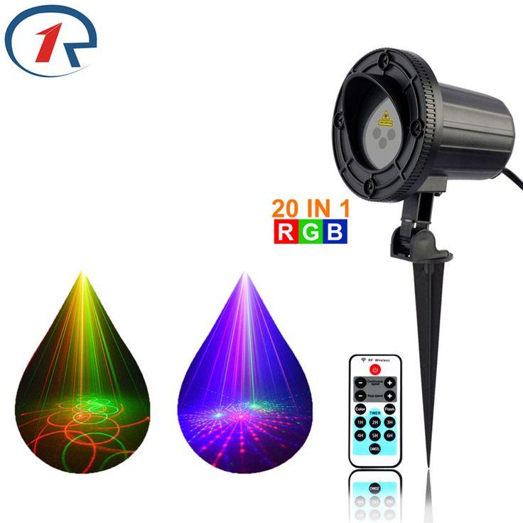 ZjRight IR Remote RGB 20 patterns laser stage light Waterproof Outdoor gala party effect lights Bar dj disco Projector lights #Affiliate
