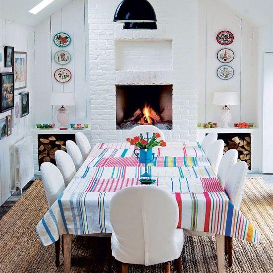 Stylish Patchwork Dining Room