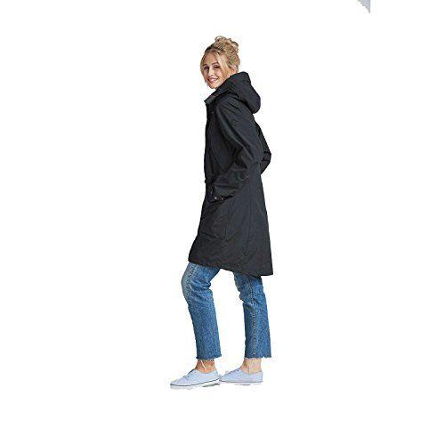 Didriksons Ladies Thelma Coat Black 40 | Women's Outerwear