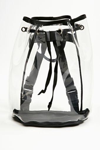 Clear Cut Backpack via Nasty Gal