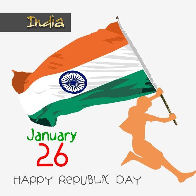 Indian Flag Flag Republic Day 26 January Indian Celebration Day Kids Boy With Flag Orange Flag Green Flag Indian Flag Flag Background Independence Day Flag