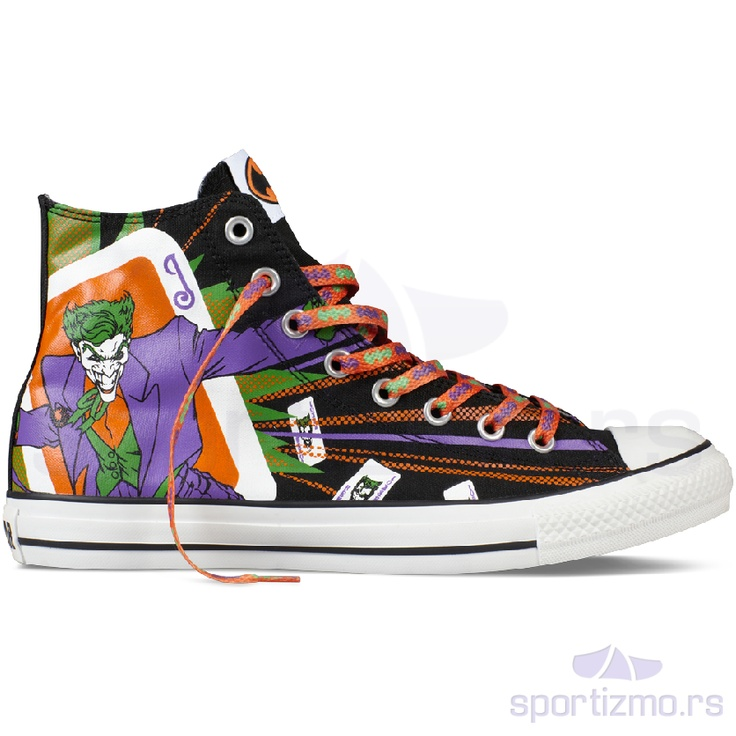 Ovo su Converse Chuck Taylor All Star Joker Black/Purple Hi popularne  starke iz ograničene serije, sa specijalnim dizajnom na sebi.