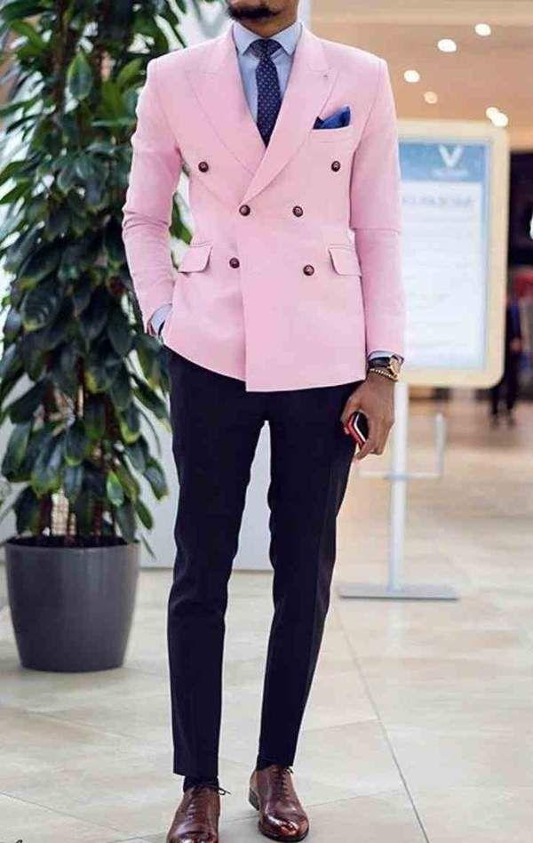 White Striped Men/'s Suit Coat Blazer 2 piece Wedding Groom Fashion Lined Custom