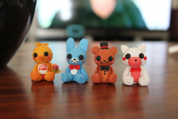 Five Nights At Freddy's 2 Figures - Polymer Clay