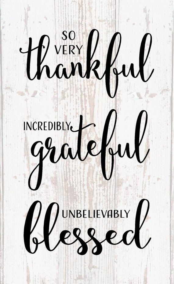 And Quotes About Thankful Blessed Feeling