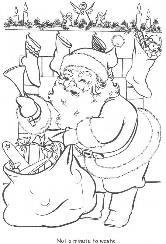 Coloring Book Little Miss Christmas And Santa Bonnie