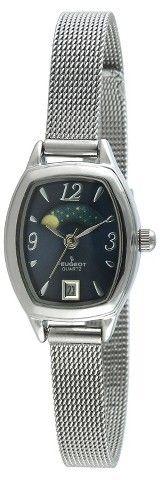 PEUGEOT Watches Women's Peugeot® Vintage Petite Sun/Mon Mesh Bracelet Watch - Blue/Silver