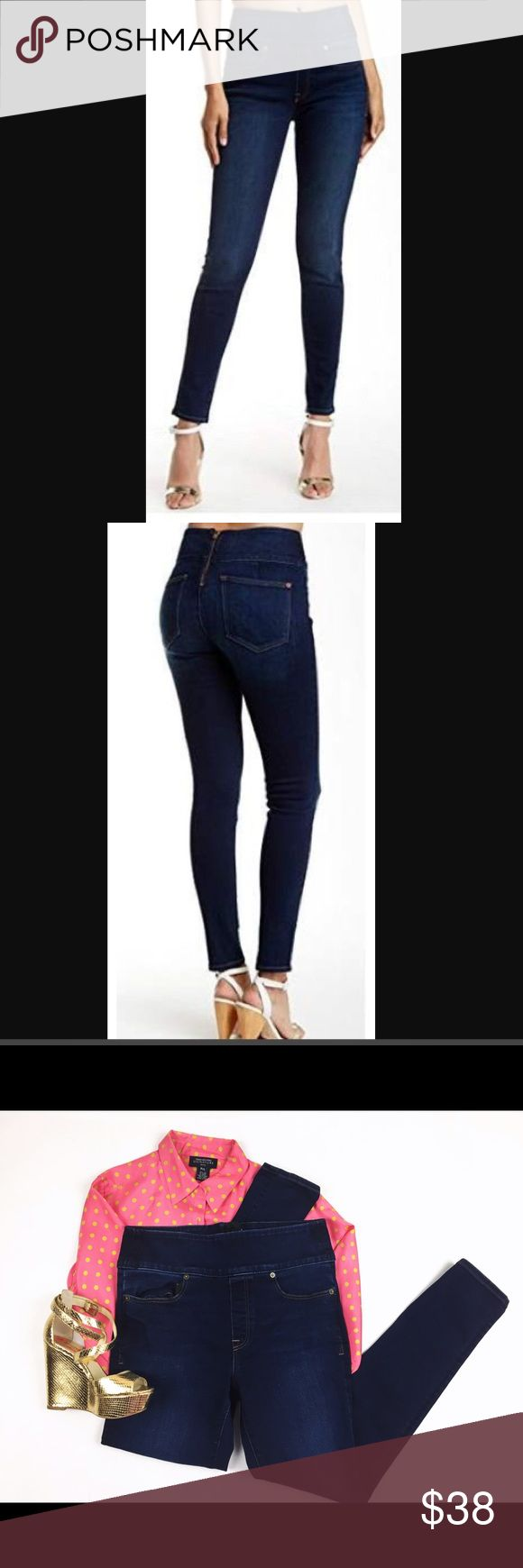 """SPANX SIGNATURE WAIST SKINNY JEANS Gorgeous Spanx Waist Signature skinny jean, perfect tummy slimmer, leg hugging and booty popping Jean! It's very gently used with no visible signs of usage, no stains, no holes. Brings the best figure out of you! Measurements: Waist to crotch 11.5 inches Inseam 28"""". SPANX Jeans Skinny"""