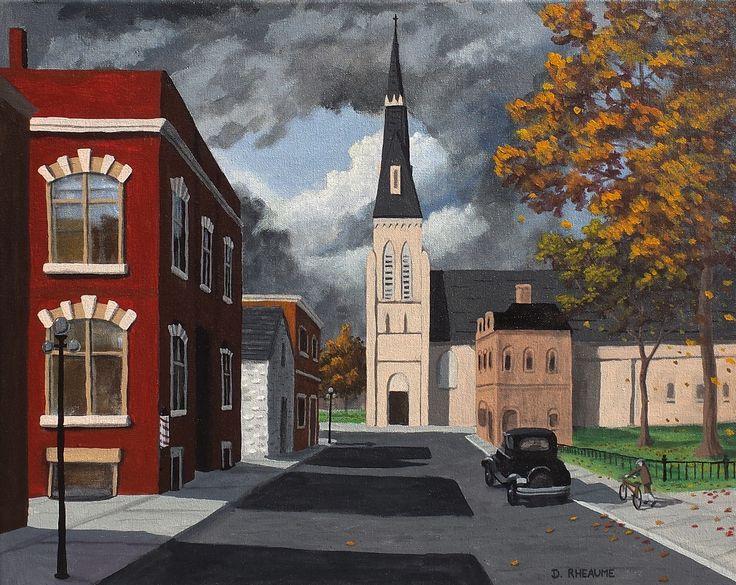 """Douglas Street""  The scene is in Guelph, Ontario.    www.daverheaume.com"