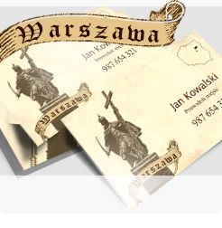 Business card for guide - Warsaw - capital of Poland