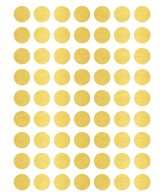 Stickers pois dorés