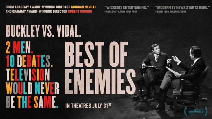 NEXT WEEK, October 5th at 7PM, The DocYard presents Best of Enemies at Brattle Theatre. In the summer of 1968 television news changed forever. Dead last in the ratings, ABC hired two towering public intellectuals to debate each other during the Democratic and Republican national conventions. Q&A after the film with director Robert Gordon! For more info on this film & tickets visit: http://thedocyard.com/2015/09/best-of-enemies/