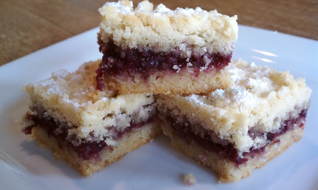 Hungarian Shortbread (with homemade blackberry and strawberry jam)