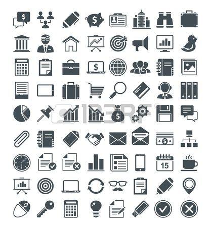 Állítsa be a hasznos ikonok, piktogramok és jelek.