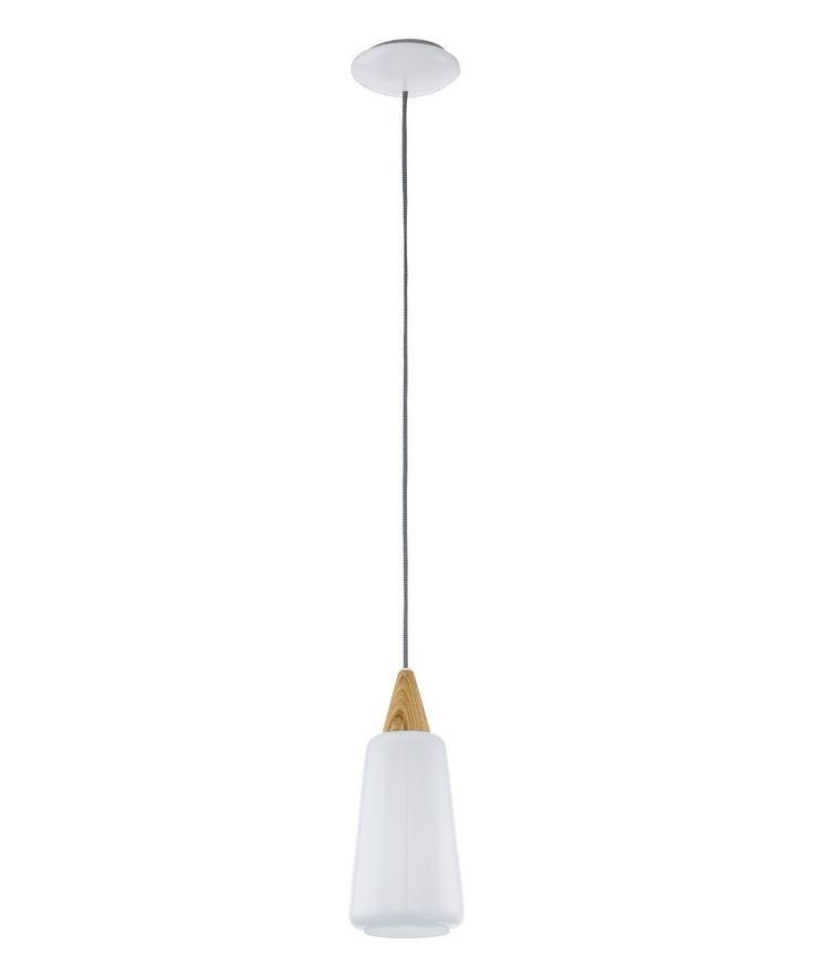 Pentone 1 Light Pendant in Ash/Opal