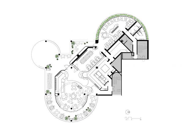 Floor Plan -> Pony Restaurant / Woods Bagot