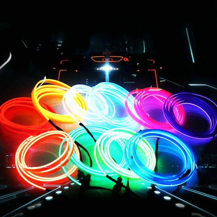1 × 1-5 متر السيارات السيارات الديكور ملصق سيارة ضوء موضوع داخلي الاب السيارات الداخلية الجسم الخارجي تعديل مائي 10 colorbj