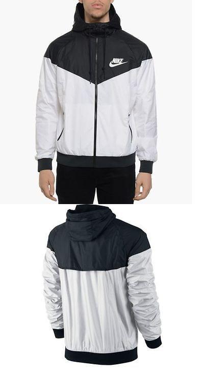 Jackets and Vests 59353: Nike Windrunner Windbreaker Running Jacket White Black Unisex S M L Men Women -> BUY IT NOW ONLY: $59.99 on eBay!