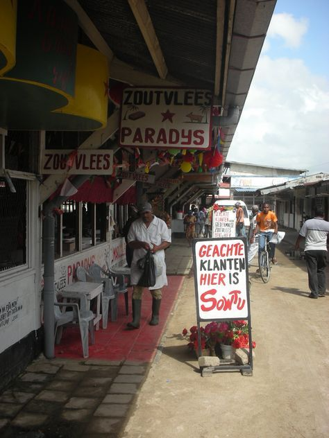 Butcher market in Paramaribo with signs written in Dutch. ◆Suriname - Wikipedia https://en.wikipedia.org/wiki/Suriname #Suriname