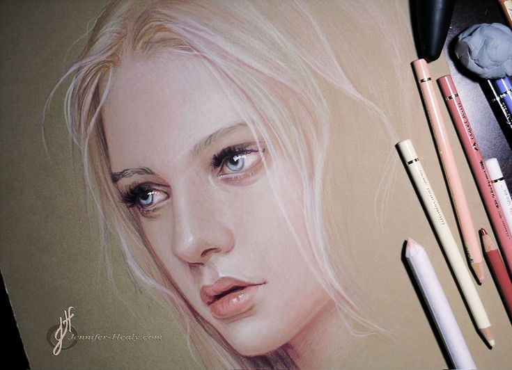 Illusion: Jennifer Healy prefers using Faber-Castell Polychromos pencils, because they are oil-based and great for blending and layering colors. http://illusion.scene360.com/art/47741/dreamcatcher-girls/ #drawing