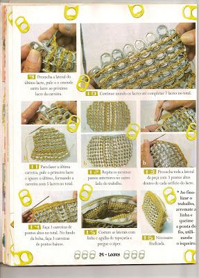 BOLSITA DE LACRES - manualidades tejidas - Gabitos