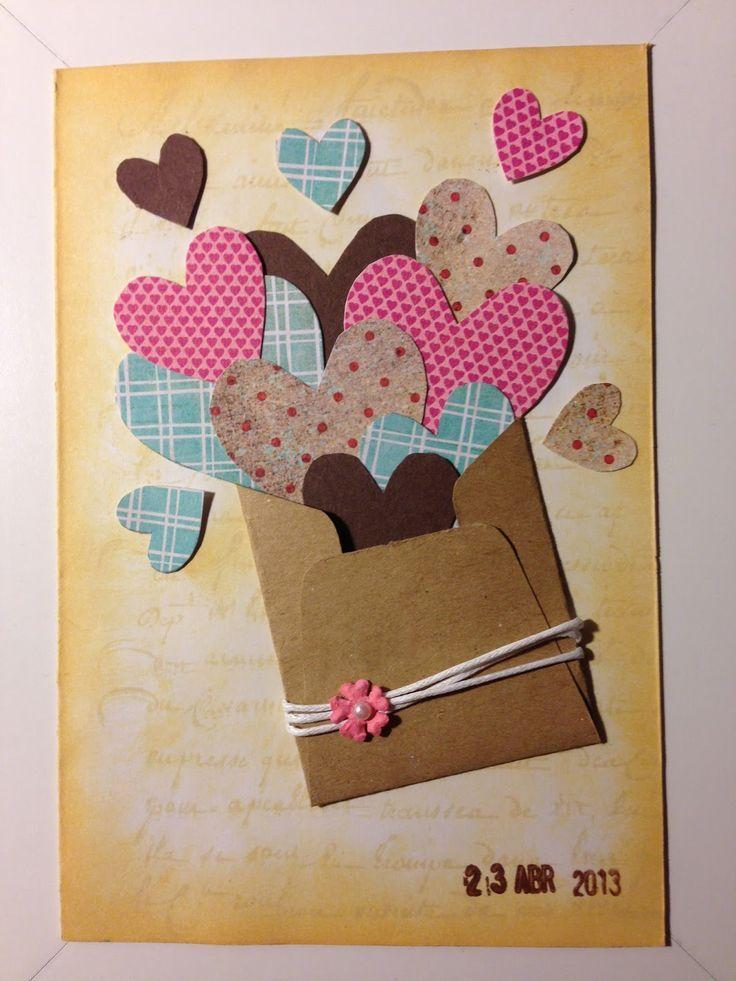 Самодельные открытки для мамам