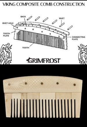 Viking Bone Comb. A good comb suited for the purpose makes beard grooming simpler. The Vikings realized this, and used, flat-toothed, bone combs for their beards, that keep both shorter and longer beards in wondrous shape. http://grimfrost.com/en/beard-rings/viking-comb-bone.html