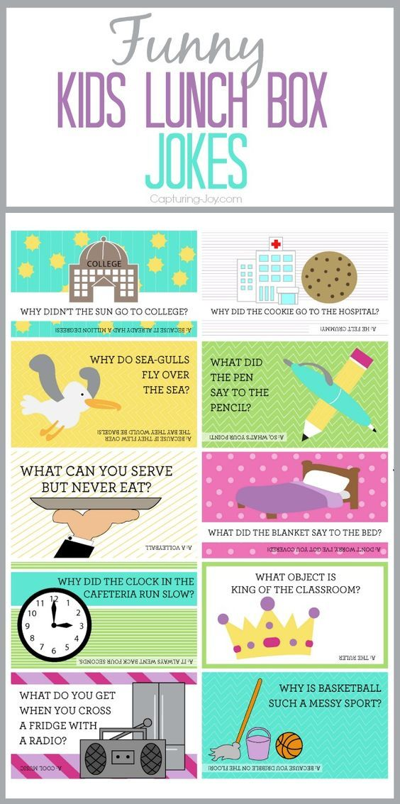Free printable Funny Kids Lunch Box Jokes!  Grab your own at Capturing-Joy.com!