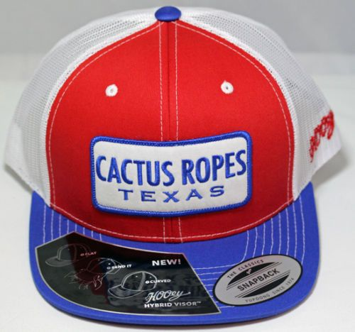 358e75118f1 Hooey Hats Cactus Ropes Texas Red White and Blue trucker hat CR013 ...