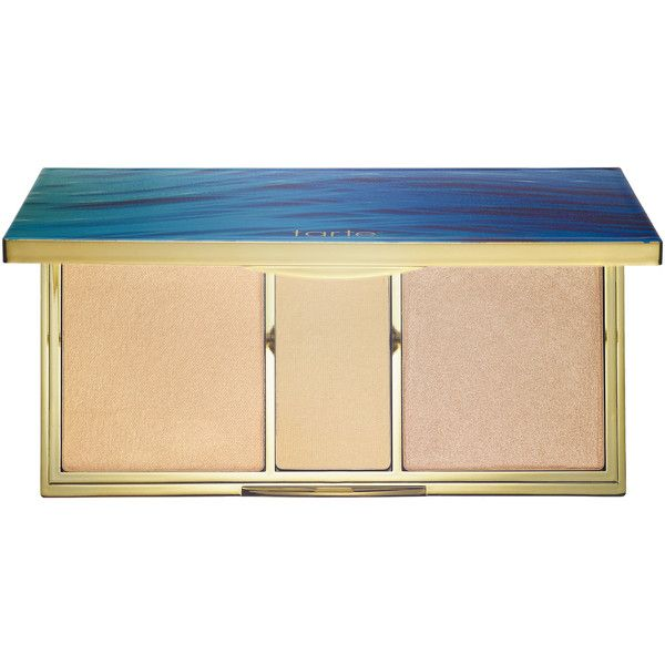 tarte Rainforest of the Sea Skin Twinkle Lighting Palette ($42) ❤ liked on Polyvore featuring beauty products, makeup, face makeup, tarte cosmetics, tarte, palette makeup, highlight makeup and paraben free makeup