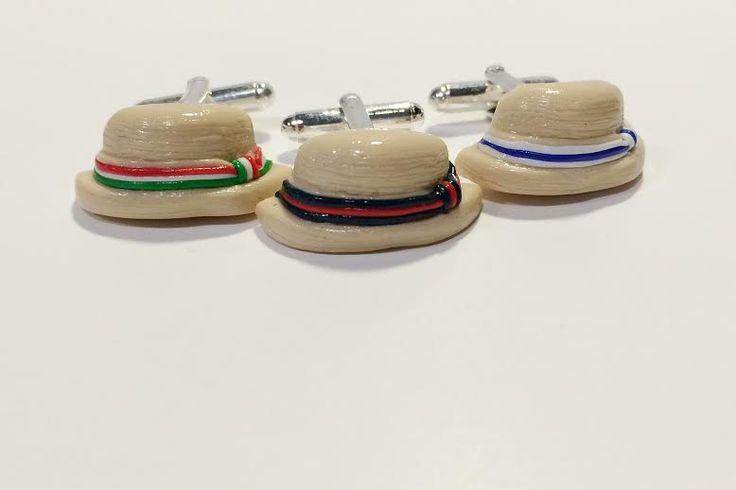 Italian style cufflinks! Handmade in Napoli....Hats
