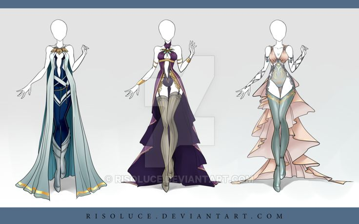 (CLOSED) Adoptable Outfit Auction 88-90 by Risoluce.deviantart.com on @DeviantArt