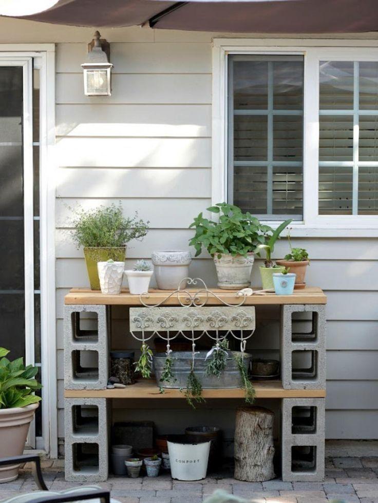 14 idées géniales pour décorer der jardin avec des blocs de béton! – #avec #B …