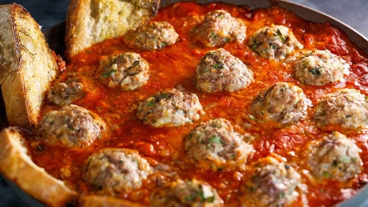Roast Meatballs and Tomato-Tarragon Sauce #Whatsfordinner