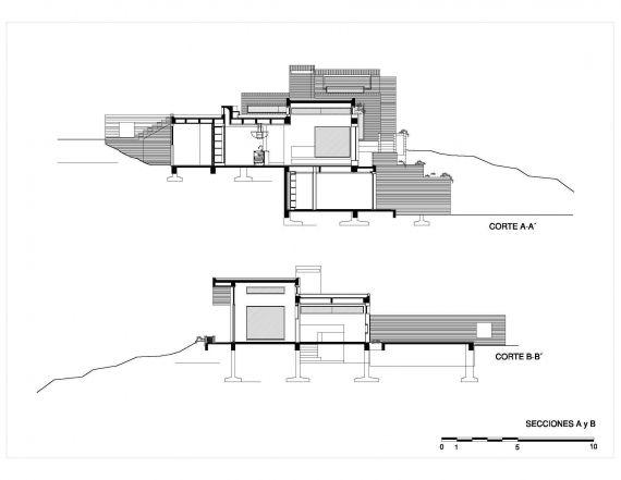 Casa La Petra. Secciones A y B