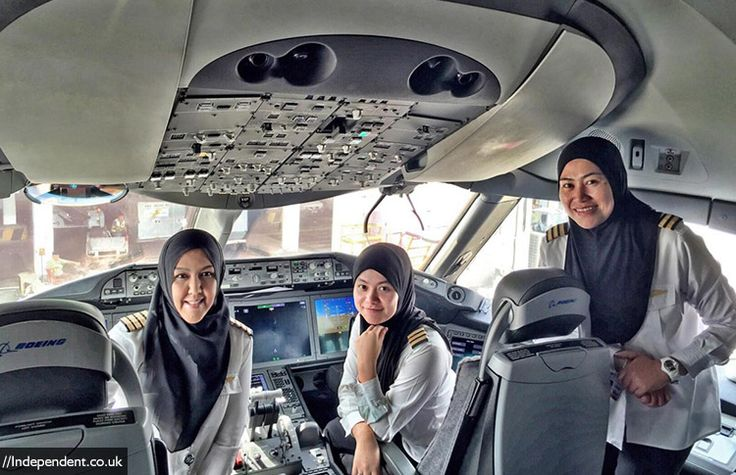 First All-Female Pilot Crew Of Royal Brunei Airlines Lands Plane In Saudi Arabia. Kudos! #pilot #crew #airlines #career #flying #aircraft #airplane #sudan #middle #east #country #driving #license #inspiring #powerful #women