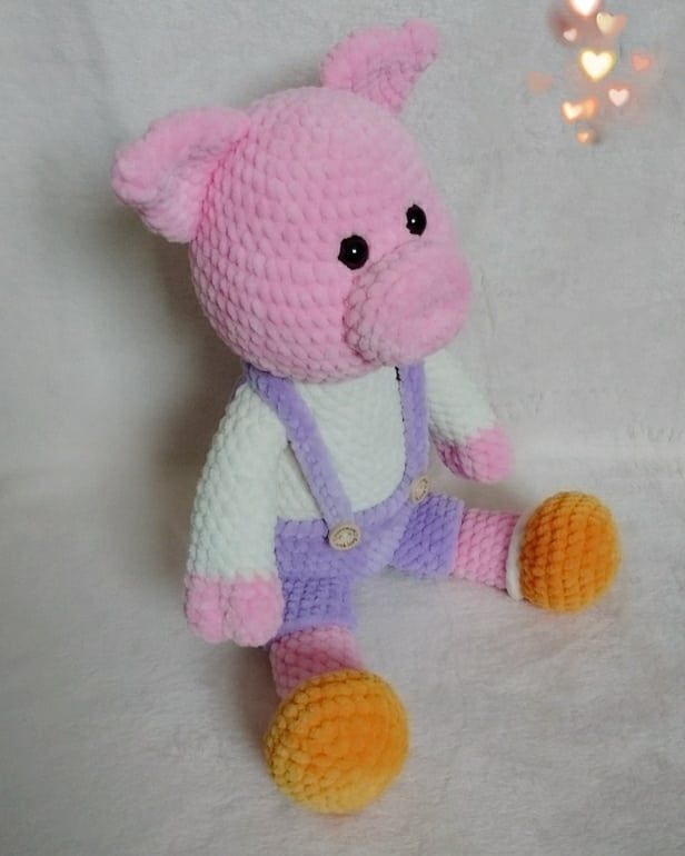 Crochet plush Pig Amigurumi Schweinchen Schwein gehäkelt
