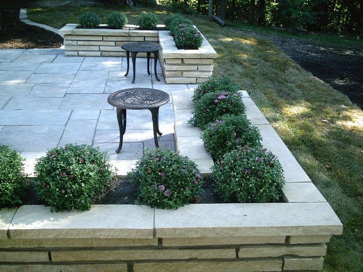 Bluestone Patio and Wall Planters patio