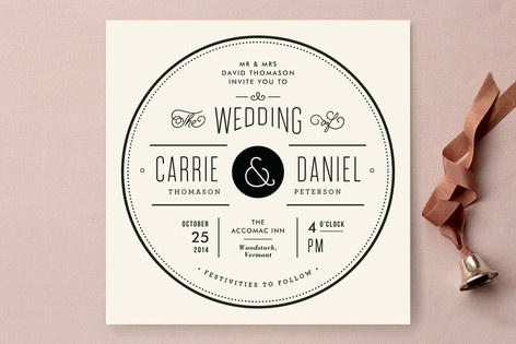 Vintage Ampersand Wedding Invitations