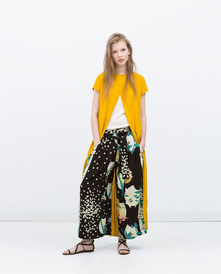 PRINTED TROUSERS-Flowing-Trousers-WOMAN-SALE | ZARA United States