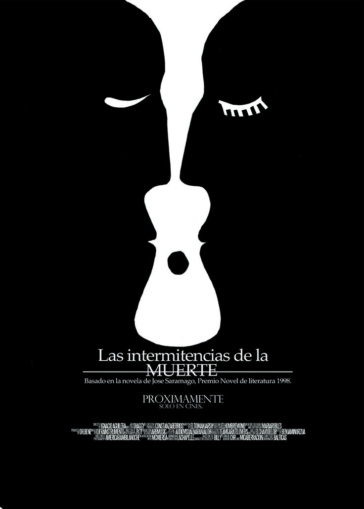 """Proyecto afiche """"Las Intermitencias de la Muerte"""". Ignacio Aguilera."""