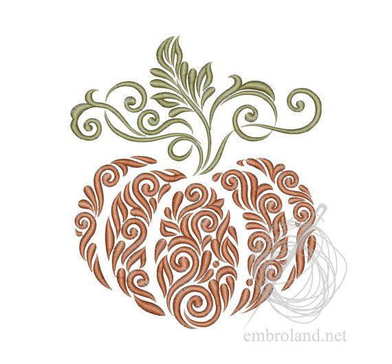 Halloween Pumpkin - Machine Embroidery Design - Instant Download - Four sizes