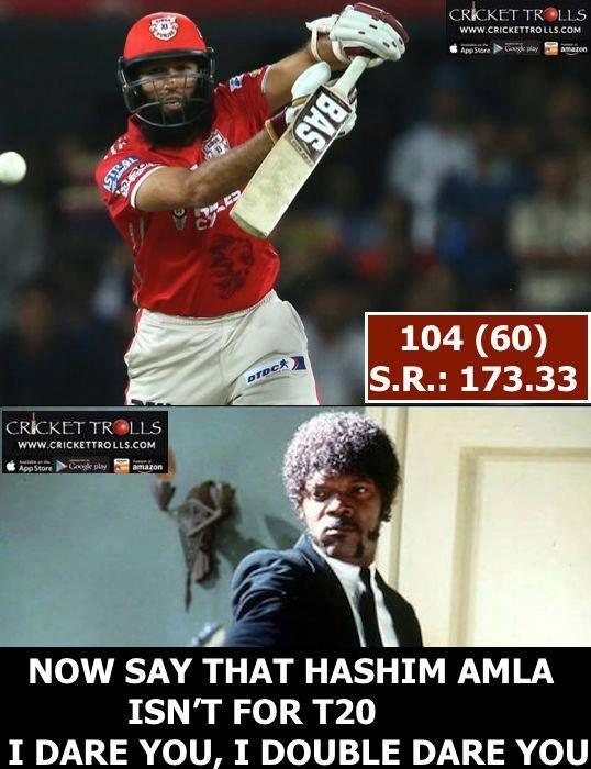 Second century of IPL 2017 credit Hashim Amla For more cricket fun click: http://ift.tt/2gY9BIZ - http://ift.tt/1ZZ3e4d