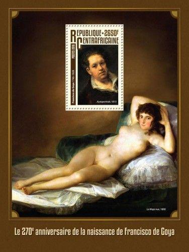 "CA16308b 270th anniversary of the birth of Francisco de Goya (Francisco de Goya (1746-1828) ""Self-portrait"", 1815)"