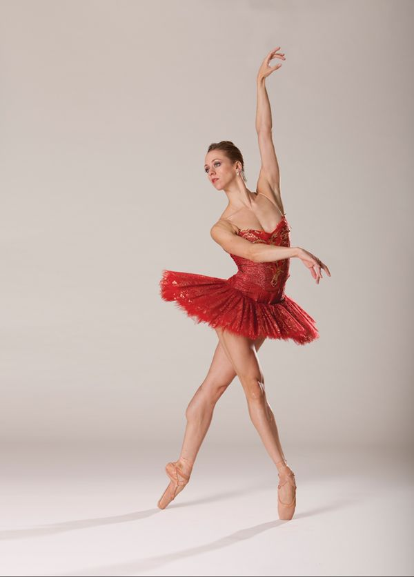 """Rausch in costume for Kent Stowell's """"Firebird"""" (photo by Angela Sterling, courtesy Pacific Northwest Ballet)"""