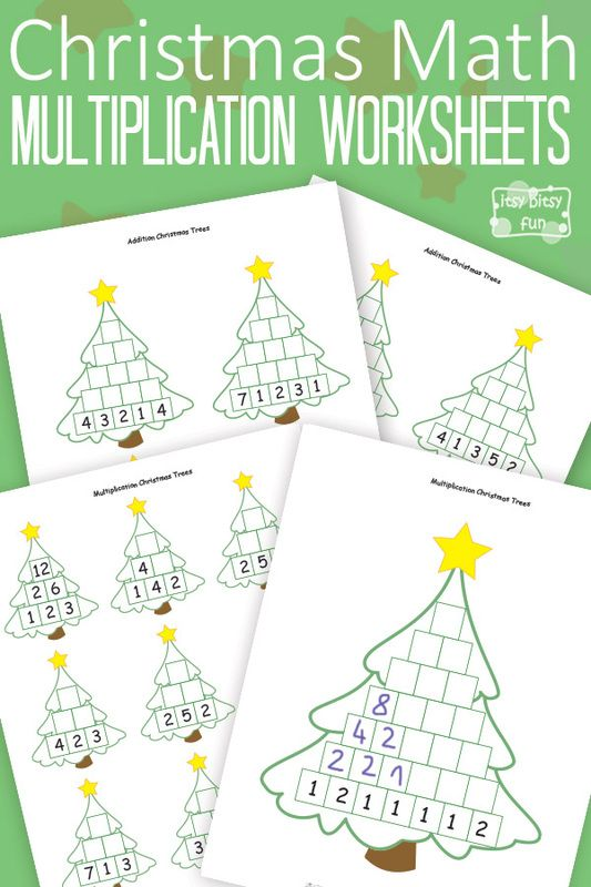 Christmas Math - Christmas Math - Multiplication Worksheets