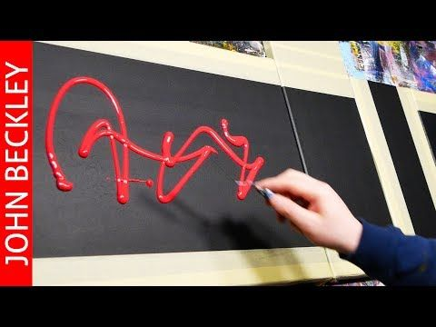 Spatula Abstract painting EASY for beginners | Sololeo – YouTube